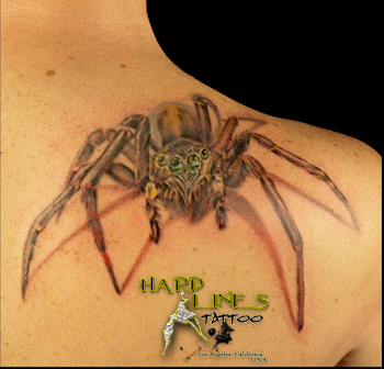 Two GREAT Realistic Spider Tattoos | Hardlines Tattoo